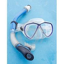 Mascara + Snorkel En Silicona Pro Excelente Calidad