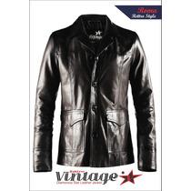 Chaquetas Blazers De Vestir! Cuero Natural Rettro Vintage