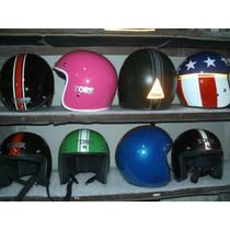 Cascos Retro Chopper Harley Vintage Vespa Abierto 3/4