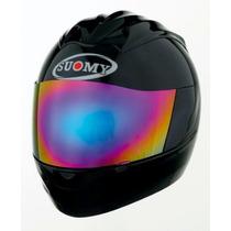 Casco Moto Suomy Trek Plain Negro, Mate, Azul, Aprobados!!
