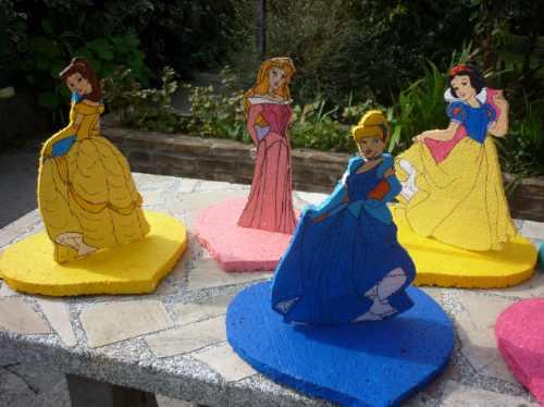 Centro De Mesa De Princesas Blancanieves Cotillon Cumpleaños ...