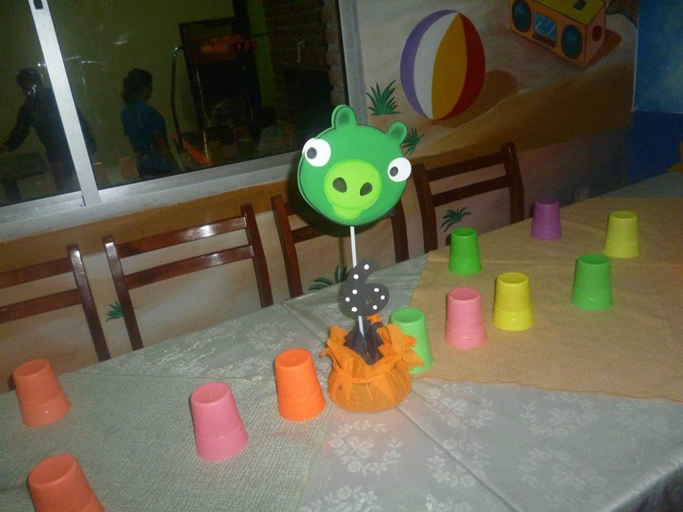Como hacer centros de mesa de Angry Birds - Imagui