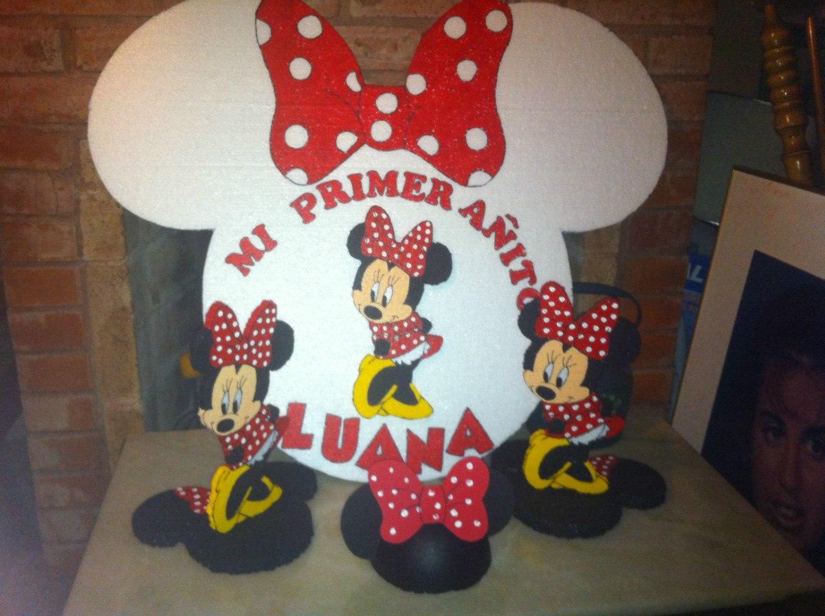 Centros De Mesa Minnie Mouse Cotillon Cumpleaños - $ 80,00 en ...