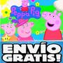 Kit Imprimible Peppa Pig La Cerdita Diseñá Tarjetas Y Mas