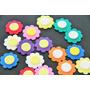 Mini Aplicaciones Formas Flores Manualidades Goma Eva 32 Uds