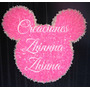 C.zhinna Cartel Cabeza Mickey Minnie Tdo Fiestas Tematicas