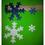 Formitas:copos De Nieve De 2,5 Cm En Goma Eva Con Glitrs