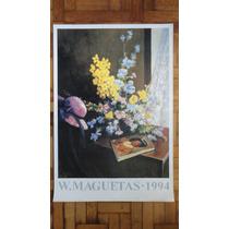 Lámina Importada W. Maguetas -arranjo Com Acacias- 90 X 64 C