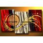 Cuadros: Tríptico De Abstractos - 3 Cuadros De 30 X 45 Cm