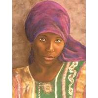 Mujer Africana - Pueblos Y Vestimentas - Lámina 45 X 30 Cm.