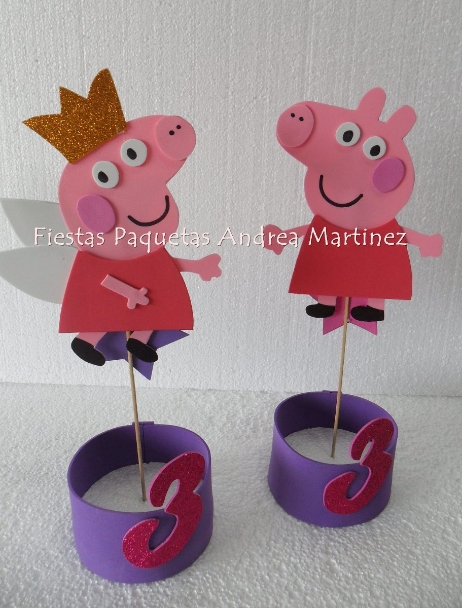 Cumpleaños Peppa Pig Cotillon Infantil Fiestas - $ 1.350,00 en