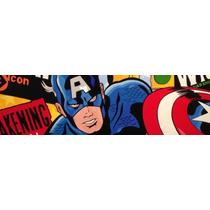 Cabecera Capitan America Y Otros Superheroes Newdecor-uy