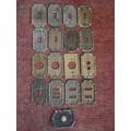 Plaquetas Usadas De Bronce Para Llaves De Luz, Tomas, Timbre