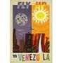 Venezuela - Turismo Fly Up -sol Cataratas - Lámina 45x30 Cm.