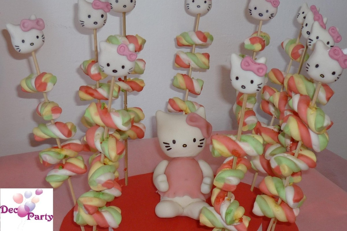 Decoracion kitty cumplea os for Decoracion de mesa de cumpleanos