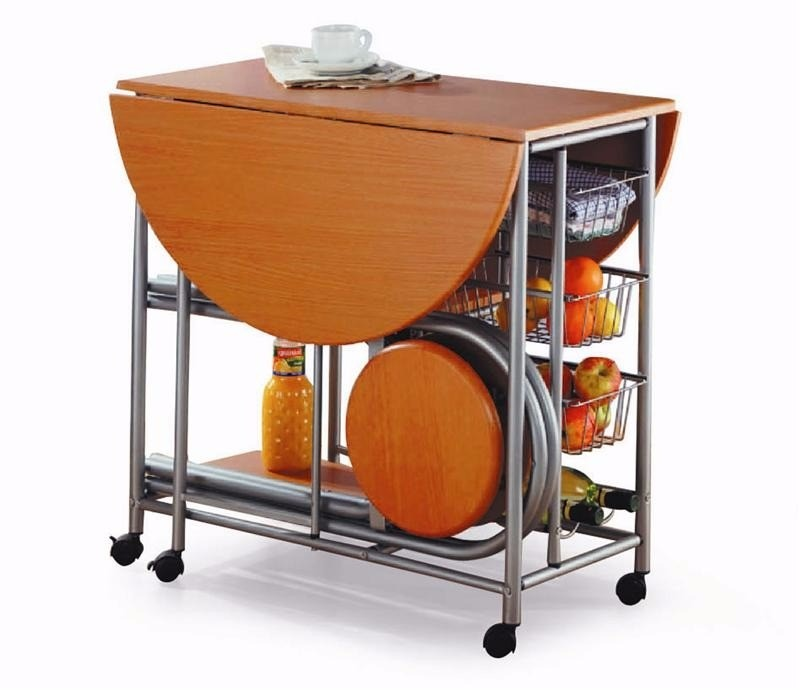Desayunador mesa auxiliar de cocina plegable c 2 banquetas - Banquetas de cocina ...