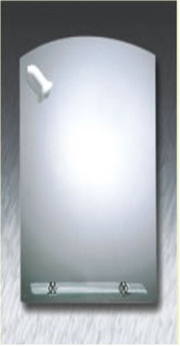 Espejo de pared de ba o curvo biselado con repisa 50793 - Espejos biselados para banos ...
