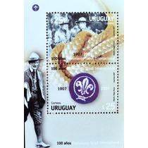 Osl Hojita 84 Sello Uruguay Boy Scout