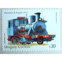 Osl Sello De Uruguay. Locomotora Tren 2004