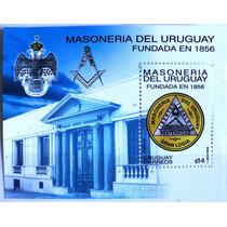 Osl Hojita 77 Sello Uruguay Masoneria Aves