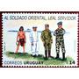 Osl Sello 2165 Uruguay Soldados Uniforme Indigena