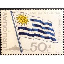 Osl Sello Áereo 254 Uruguay Bandera Nacional