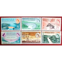 Osl Sellos Rhodesia Y Nyasaland Agua Reina Inglaterra