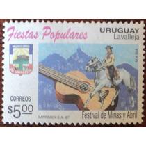 Osl Sello 1635 Uruguay Festival Minas Y Abril Guitarra