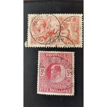 5 Shillings Sellos Antiguos Gran Valor De Catalogo