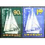 Osl Serie Sellos Aéreos 246 Y 247 Uruguay. Barco