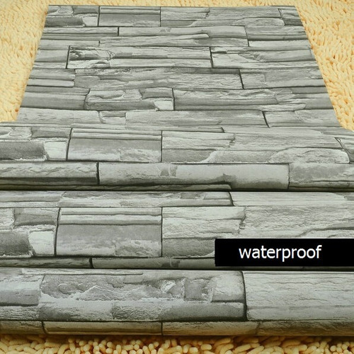 Film o papel adhesivo para empapelar paredes simil for Paredes simil piedra