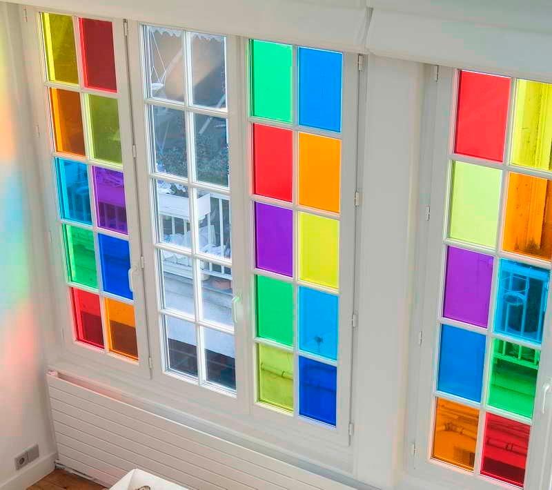 Film vinilo cristal p decorar ventanas vidrios - Decorar cristales de puertas ...
