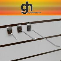 Panel Ranurado En Mdf Color Blanco Exhibidores Para Comercio