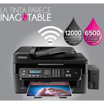 Impresora Epson L555 Sist Cont Imprime Escanea Fax Wifi Adf