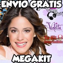 Kit Imprimible Violetta Tarjetas Invitaciones Cotillon Candy