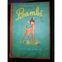 Antiguo Libro De Bambi Walt Disney 1950 Sello London Paris