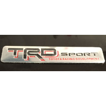 Sticker Adhes. Insignia Aluminio Trd Sport Racing Tuning