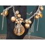 Hermoso Collar Perlones Con Colgantes Cristal Murano Subasta