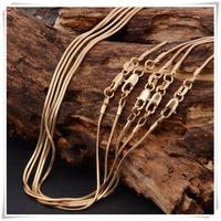 Cadena, Collar Sin Dije En Oro 18 K Goldfiled