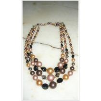 Vintage Antiguo Collar,gargantilla Fantasía Tonos Ocres