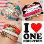 Pulsera Brazalete De Cuero >>> One Direction <&l