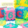 Puzzle Alfombra De Goma Eva Variados Colores Letras Numeros