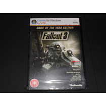 Fallout 3 Game Of The Year Edition-- Pc Original Nuevo
