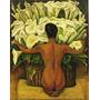 Diego Rivera - Desnudo Con Alcatraces - Lámina 45x30 Cm.
