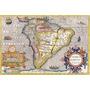 Lámina 45x30 Cm. - Uruguay Y America Del Sur En Antiguo Mapa