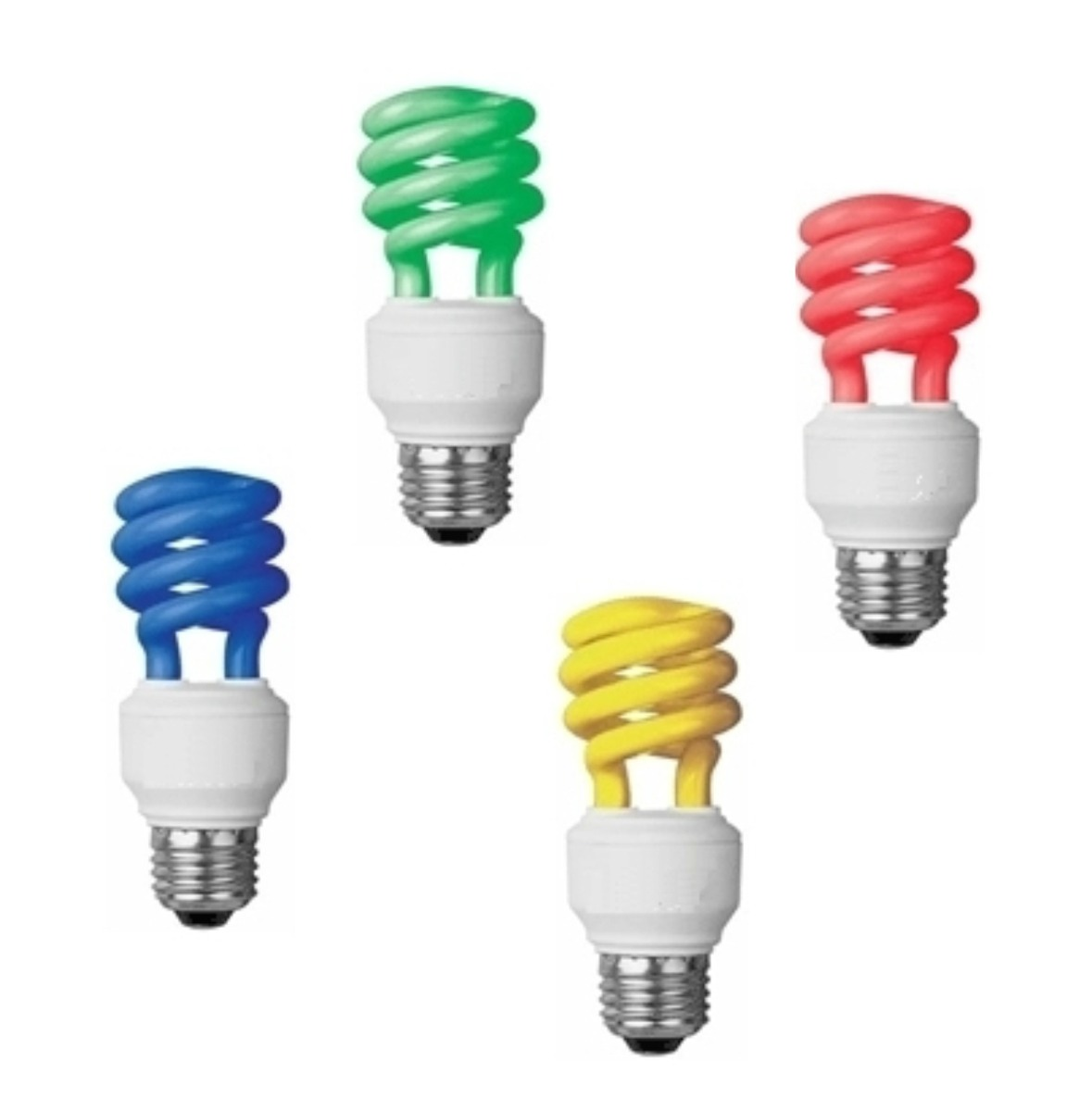 Lamparas Bajo Consumo Para Baño:lámpara bajo consumo de colores amarillo, azul, rojo, verde