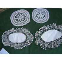 Crochet, Carpetas X 4 Autenticas, Antigüas, Impecables-lotef