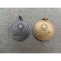 Medalla B P S 25y30 Años Servicio Plata Ambas1 C/baño Dorado