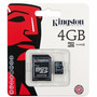 Memoria Micro Sd 4gb Clase 4 Kingston Celular Tablet Camara