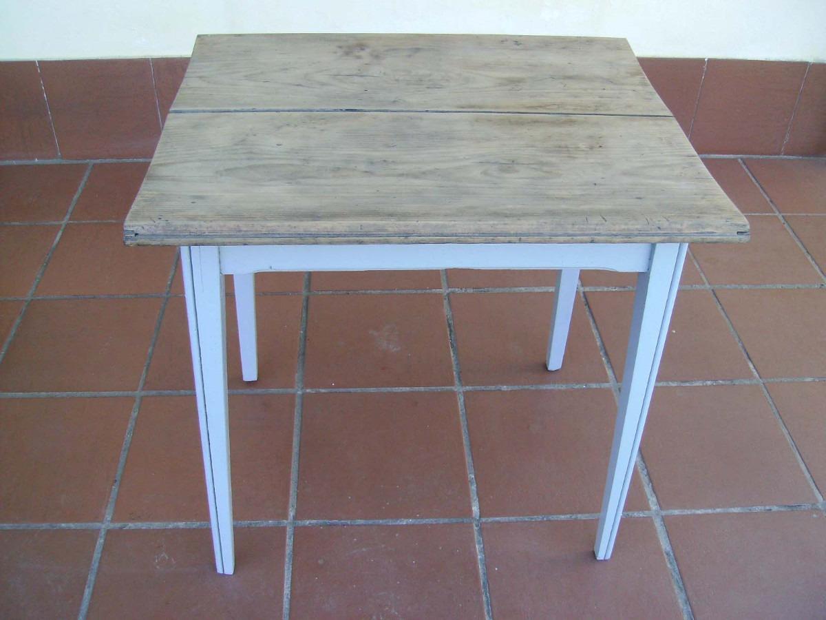 Mesa madera antigua pinotea ideal juego o cocina - Mesas de comedor antiguas restauradas ...